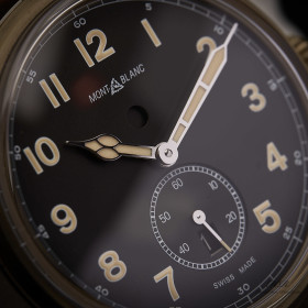 Montblanc 1858 Automatic Dual Time Bronze Stainless Steel...