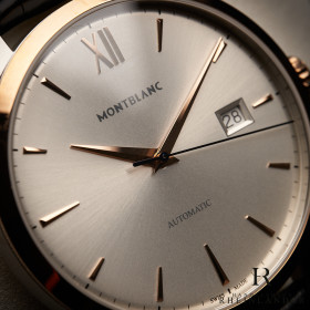 Montblanc Heritage Spirit Date Automatic 39mm Silver Dial...