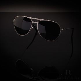 Montblanc Modern Sunglasses Silver Metal Frame Grey...