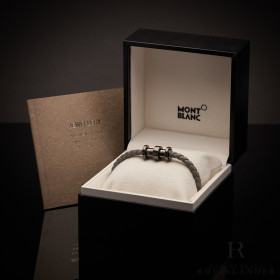 Montblanc Mens Accessories Leather Bracelet PVD Stainless...