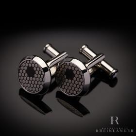 Montblanc Mens Accessories Star Cufflinks Honeycomb Black...